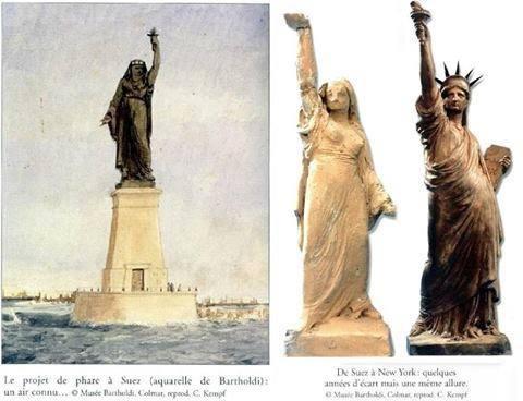 تمثال الحرية تصميمه مستوحي من فلاحة مصرية