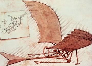 بعد التصميمات التي حاول الإنسان الطيران مقلدا الطيور مستخدماً قوته العضلية فقط